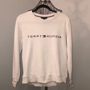 Tommy Hilfiger white crew sweater